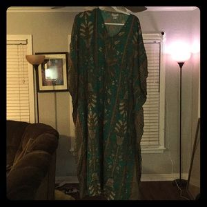 One size green and gold coverup- made in India